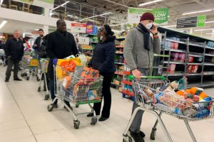 Panic buying forces British supermarkets to impose limits